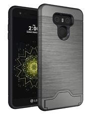 For LG G6 Shockproof Hybrid Card Slot Kickstand Hard Cover Case