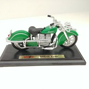 Indian Four Green Motorcycle Diecast Maisto 1/18 No packaging 1997