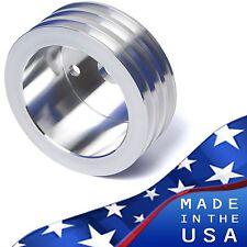 Small Block Chevy Crankshaft Pulley V-Belt 3V Crank LWP SBC 350 327 400 Aluminum