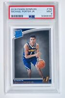 2018 Panini Donruss #182 Michael Porter Jr Rookie RC PSA 9 | Denver Nuggets |Qty