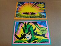 Two 1971 Third Eye Marvel Comic Greeting Cards