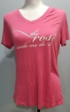 "Soma Womens T Shirt Small Pink ""The Rose' Made Me Do It"" Slogan Short Sleeve 139"