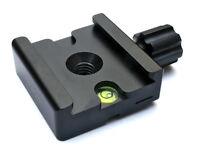 "FotoPanda 50mm Quick Release (QR) Adapter Clamp - Arca Swiss Compat 1/4"" 3/8"" M6"