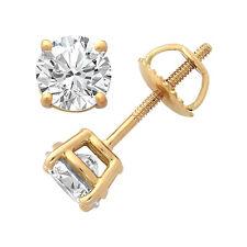 Echtschmuck Ohrstecker Diamanten 0,50 Karat Gelbgold SI Wesselton Brillanten