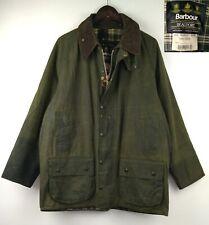 "BARBOUR BEAUFORT Cerata A150 verde cotone PARAFFINATO C44/112cm GRANDE CIRCONFERENZA PETTO 44"""