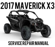 BEST 2017 Can-Am CanAm Maverick X3 TURBO Maintenance Service Repair Manual CD