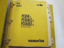 1992 1993 1994 1995 Komatsu PC650 LC SE 5 Service Repair Shop Manual OEM Book
