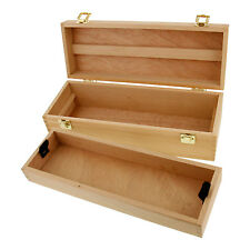 US Art Supply Artist Wood Pen, Marker Storage Box w/ Drawer Medium Tool Box