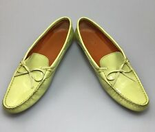Salvatore Ferragamo Green Patent Leather Driving Moccasins Sz 7.5 AA Faddy