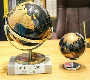 3D World Globe Metal Ornaments Exquisite Geographic Birthday Gift Home Decor