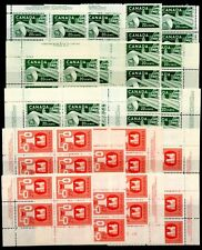 Weeda Canada 362-363, 362i F-VF MNH M/S of PBs, 1956 Industry issue CV $282