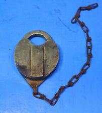 Vintage RailRoad Brass lock With No key