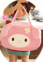 Pink Kawaii My Melody Kitty Womens Cartoon Plush Handbag Cute Mummy Shopping Bag