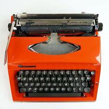 Orange Contessa Typewriter - Retro Typewriter in working condition
