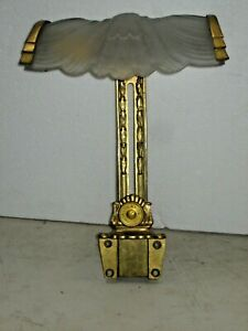 Rare Antique Art-Deco Sterling Bronze New York Picture / Art-Light Wall Sconce