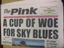08/01/1994 COVENTRY evening Telegraph il rosa: principali titolo recita: una tazza di WO