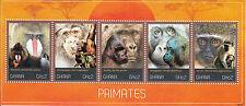 Ghana 2012 MNH Primates 5v M/S Wild Animals Mandrill Chimpanzee Gorillas Stamps