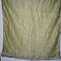 Vintage Dupatta Long Stole Florel Salma Zari Green Tissue Silk Hand Wrap Veil