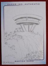 THUNDERBIRDS ARE GO! - PENCIL SKETCH CARD - THE CLIFF HOUSE - Jeremy McHugh
