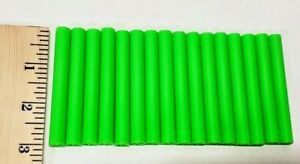 """16 LOT TINKERTOYS REPLACEMENT PIECE PART PLASTIC SMALL 3"""" GREEN STICKS RODS"""