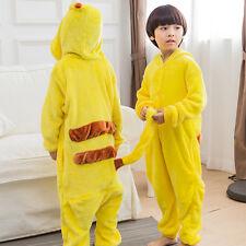 Child Jumpsuits Pajamas Pikachu Kigurumi Cosplay Costume Kid XS Size Sleepwear