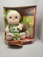 Cuddlin Cuties Soft Baby doll & Mini Turtle Plush Olivia & Fifi Green Hair New.