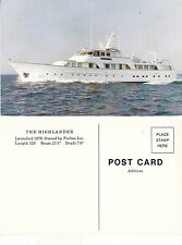 FORBES SUPERYACHT THE HIGHLANDER UNUSED COLOUR POSTCARD