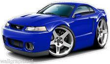 1999-2004 FORD Mustang SVT Cobra 4.6 Engine Cartoon Cars Wall Decals Graphics
