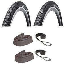 700x38 Tires Pair + 2 Tubes 2 Rim Strips Serfa Vida Combo Puncture Resistant Pak