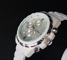 Sinobi 9405 Mens Sport Chronograph White Wrist Watches Stylish Divers/UK Seller