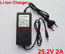 Alimentatore carica batteria charger per pacchi batterie 6 litio  25.2 V 2A 50W