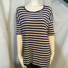 LULAROE IRMA Ribbed  Blue Stripe Top Tunic XS Worn Once