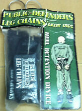 Vintage black Public Defenders Leg Chains by Lazzy Legs aggro inline skate gear