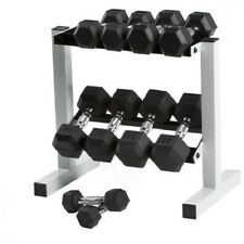 Dumbbell Weight Set With Rack Barbell 150 LB Exercise Gym Workout Fitness Muscle