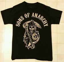 Sons Of Anarchy Reaper Logo Officially Licensed Adult T-Shirt - Black