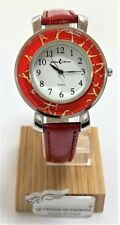 Orologio Donna rosso color acciaio watch in Vetro di Murano