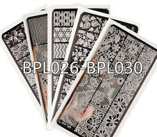 5Pcs/set BORN PRETTY Nail Art Stamping Plates Image Stamp Template BPL026-030