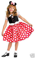 Red Minnie Mouse Costume M 7/8 Girl Child Kid Dress Up Halloween