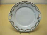 Antique Porcelain Cake Plate/Platter Art Nouveau Flower Garland - around 1900