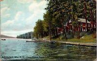 Camp Fulton Fourth Lake Adirondack Mtns NY Hugh C Leighton - POSTCARD