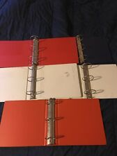 Lot of 7 3 Ring Binders, 2-2, 2-2 1/2 And 3 3 Inch 3 Ring Binders Measured Ring