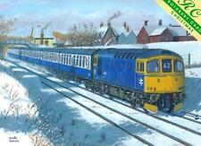 Christmas Cards - Christmas Gillingham British Rail Class 33 Crompton Diesel 62