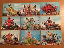 Serie di 9 Cartoline vintage Carnevale di Viareggio non viaggiate !