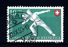 "SWITZERLAND - SVIZZERA - 1950 - ""Pro Patria"". Sport diversi 10+10c. Lancio pietr"