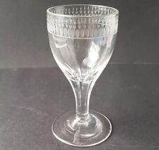 Empire Glas Fuß-Becher/ Kelchglas handgraviert Frankreich um 1810 – 1820 AL1454