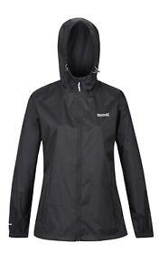 Regatta Womans Packit Waterproof Coat Packaway Lightweight Jacket Size 26 Black