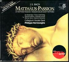 BACH St. Matthew Matthäus-Passion 3CD HERREWEGHE Andreas SCHOLL BOSTRIDGE GÜRA