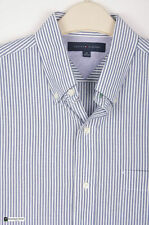 Tommy Hilfiger Slim Collared Striped Men's Casual Shirts & Tops