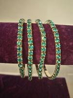 Turquoise sparkly elasticated bracelet