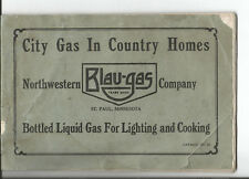 NORTHWESTERN BLA-GAS COMPANY ST PAUL 1915 CITY GAS IN COUNTRY HOMES